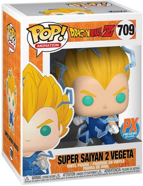 Funko Pop! Animation Dragon Ball Z: Super Saiyan 2 Vegeta Vinyl Figure (Comes with pop protector)