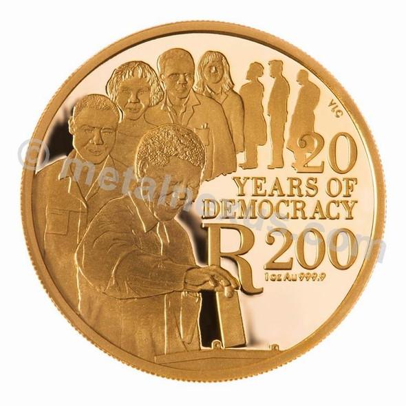 1oz Gold 2014 Democracy