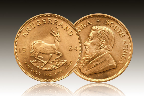 Gold Bullion Krugerrand - Sample image. Price is for 5 units.