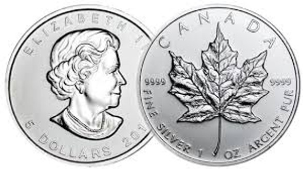 Canadian Maple Leaf. A tube consists of 25 coins.
