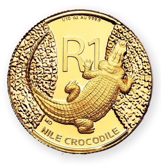 Crocodile 1/10 Oz Gold 2015