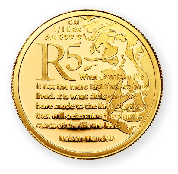 Protea Gold Proof 1/10 Oz 2015 - Reverse