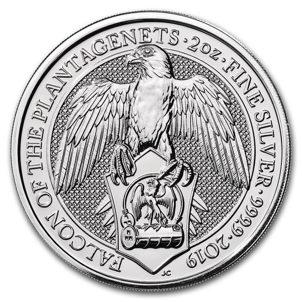 2019 Great Britain 2 oz Silver - The Falcon