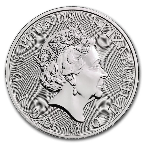 2020 Great Britain 2 oz Silver - The White Horse of Hanover - Obverse.