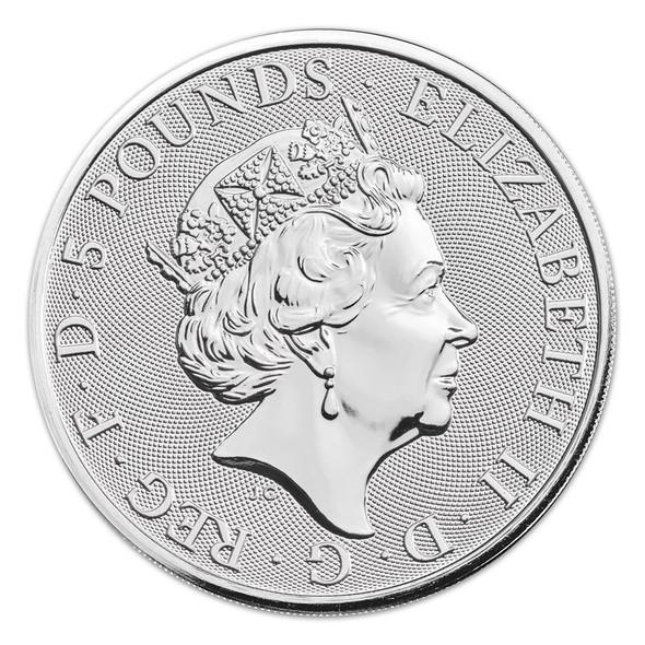 2020 Great Britain 2 oz Silver - The White Greyhound of Richmond - Obverse.
