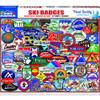Ski Badges 1000 piece Puzzle by White Mountain