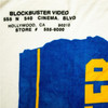 Close-up of the Blockbuster Video Blanket