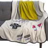 Nintendo Game Boy Fleece Throw Blanket On Chair View