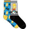 The Simpsons Bart Eat My Shorts 2 Pack Crew Socks by Vision Eleven