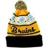 NHL Boston Bruins Cuffed Peak Knit Toque with Pom Pom Back View