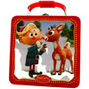 Rudolph The Red-Nosed Reindeer Square Tin Tote Lunch Box