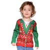 Faux Real - Toddler Girls Ugly Christmas Sweater Vest Tee