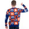 Edmonton Oilers Ugly Christmas Sweater NHL 2016 Rear