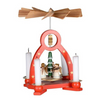 Ruby Sue's Wooden Christmas Pyramid Carousel - 7-Inch