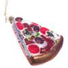 Pizza Slice Glass Christmas Ornament