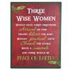 Three Wise Women Tin Christmas Sign
