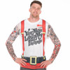 Your Mom Loves My Package Ugly Christmas Tee Faux Real - Front