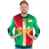 Christmas Present with Bow Ugly Sweater - men front