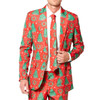 Red Christmas Tree Lot Ugly Christmas Suit - Close