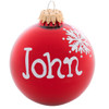 Personalized Name Glass Christmas Ball Ornaments