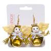 Kitsch Christmas Bell Earrings Angels