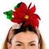 Festive Poinsettia Headband