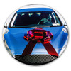 """25"""" Red Holographic Car Bow - car"""
