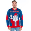 Festive Finger Ugly Christmas Sweater Front