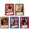 Glittered Polaroid Frame Ornaments  5 Assortment
