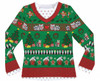 Faux Real - Ladies Ugly Christmas Long-Sleeve Tee Front