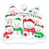 North Pole Personalized Ornament Family of 8