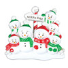 North Pole Personalized Ornament Family of 7