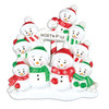 North Pole Personalized Ornament Family of 9