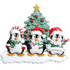 Winter Penguin Personalized Ornament Family of 3