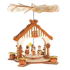 """Aunt Bethany's 5"""" Wooden Pyramid with Carolers"""