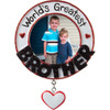 World's Greatest Brother Personalized Ornament