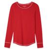 Women's Red Stretch Jersey Pajama Top
