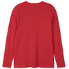 Men's Red Waffle Henley Pajama Shirt Back