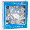 """7"""" Tinsel Wreath with Candles Christmas Tree Topper, Silver in Box"""