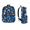 Nintendo Super Mario All Over Print Backpack Front and Side Views