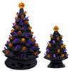 Large and Small Retro Ceramic Halloween Tree