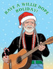 Willie Nelson holiday christmas cards