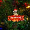 Toronto Raccoon Honest Eds Sign Ornament on Tree