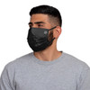 Male model wearing a pleated-style matchday face mask