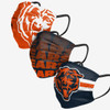 NFL Chicago Bears 3 pack face masks Matchday
