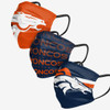 Denver Broncos NFL Matchday 3 pack face covers