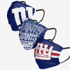 NY Giants 3 Pack matchday face covers