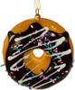 Chocolate A Dozen Doughnuts Ornaments