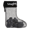 """Coal in Naughty Stocking 4.5"""" Ornament"""