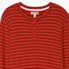 Christmas Village Stripe Waffle Henley Pajama Shirt by Hatley